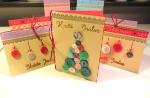 Christmas Cards with Buttons by LoVeras