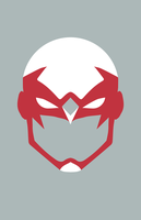 Hawk Mask Minimalist Design by burthefly