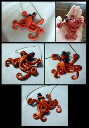 Steampunk Octopus Necklace by HDevers