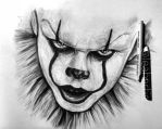 Pennywise portrait sketch by Cleicha