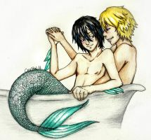 The Surfer and the Merman 2 by CrystalSexyAss