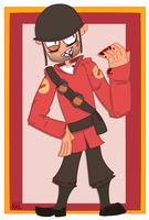 Soldier RED (TF2) by AxilThePowerbank