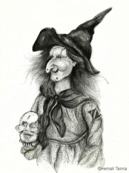 Portrait of a witch by hemalitanna