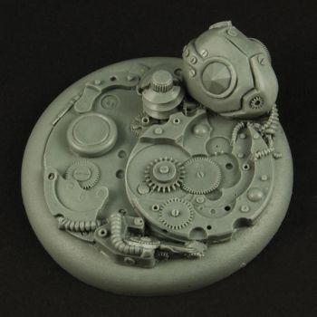 Robotic Gear 50mm Round Edge Base no1 by RistulsMarket