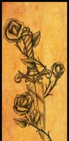 Dagger Rose Tattoo Design by jacksonmstattoo