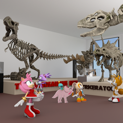 At the Museum. by Spinosaurusking875