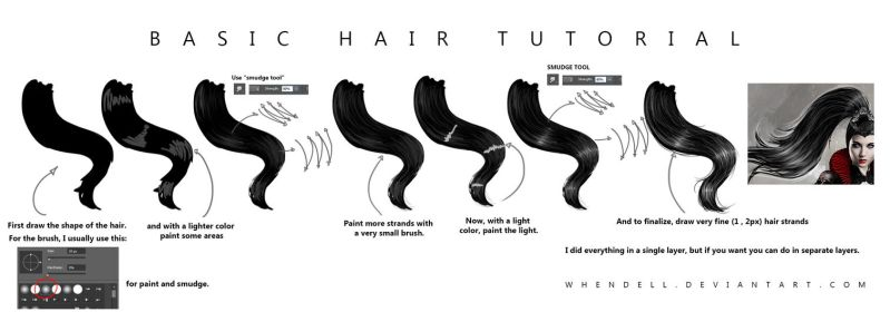 Basic Hair Tutorial by Whendell