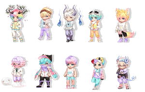 Pastel Boy Adopts | OPEN 3/10 | by M0NSTERP0CKETS