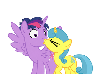 Surprise kiss by TurnaboutArt