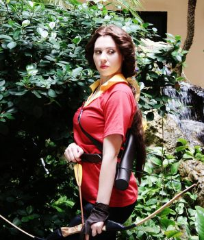 Belle in Gaston's Outfit Cosplay by michishigemasumi