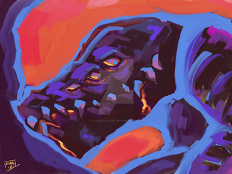 grima loose painting by Cybercluster