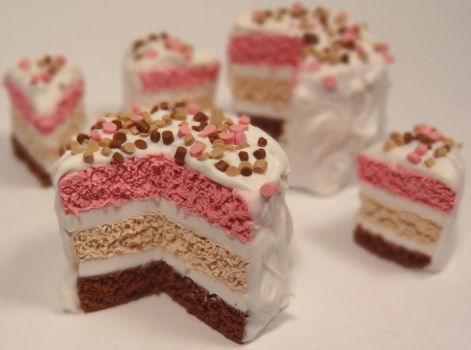 Polymer Neapolitan Cake by Yeral