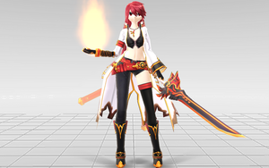 [MMD-Elsword] Elesis Blazing Heart DOWNLOAD! by Darknessmagician