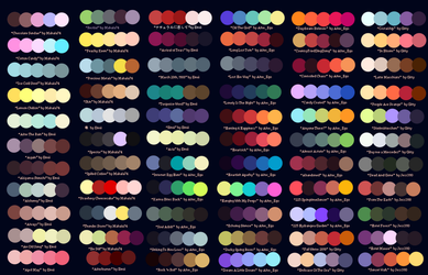 MLP Color Palette Adopts by Conspivacy