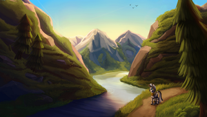 Searching the mountains + Speedpaint by Camyllea