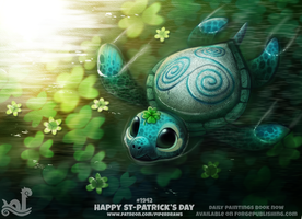 Daily Paint 1942# Happy St-Patrick's Day by Cryptid-Creations