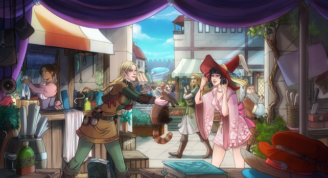 Comm: Market Day by SicilianValkyrie