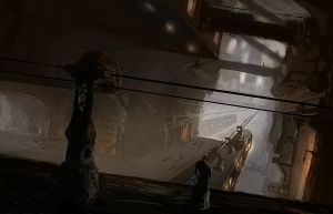 hangar concept art by eWKn