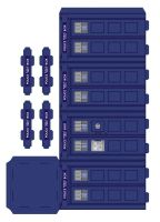 Police box paper model - page1 by gfoyle
