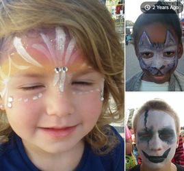 blast from past face paint by funfacesballoon