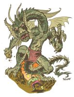 FIN FANG FOOM VS HULK by ChrisFaccone