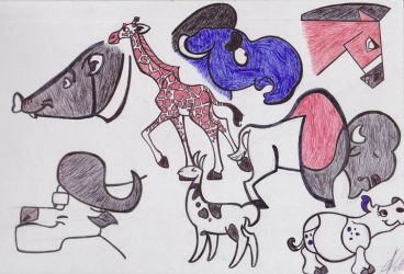 Ungulate Character Designs by zebG