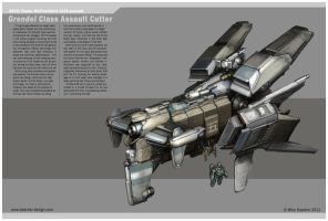 Grendel Class Assault Cutter by MikeDoscher
