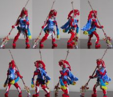 Pipe Cleaner Zelda Breath of the Wild Mipha by MetalliSnowLeopard