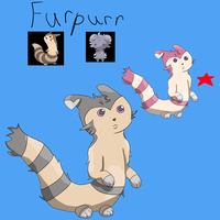 Furpurr-Furret and Espurr fusion by Tenshineko01