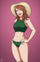 Angie Aimes Swimsuit (Earth-27) OC commission by phil-cho