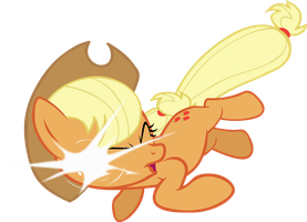 Applejack out of nowhere by FabulousPony