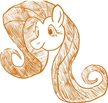 art1 Flutterponysketch.png by ShiftyTheChangeling