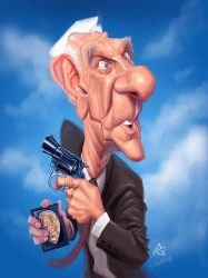 Leslie Nielsen by AnthonyGeoffroy