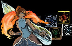 Legend of Korra Badge Art by kmccaigue
