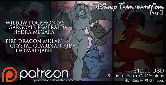 Disney Transformations II by Chronorin