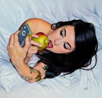 Apple and Susi, morning in N Y . by aixado