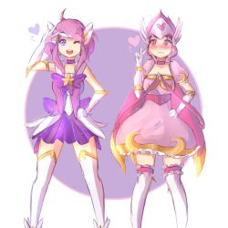 Star Guardian Lux and Magical Girl Quinn by Hichiyan