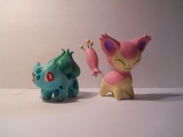 Bulbasaur and Skitty