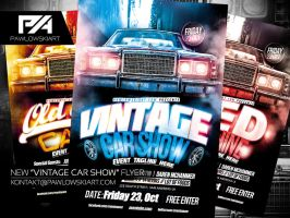 Vintage Car Show Event Flyer Template by pawlowskiart