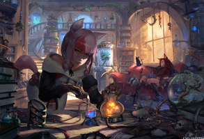 #378 alchemy lab by cutesexyrobutts