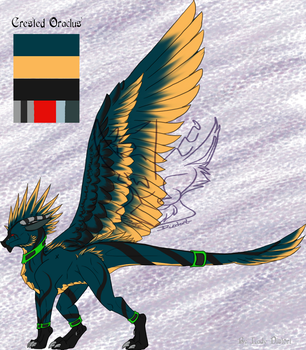 Rank 3 Crested Oraclus adopt by LadyDistort