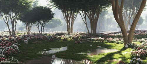 Wild Roses by 3DLandscapeArtist