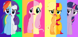 Mane 7 Switched Cutie Marks by awesome992
