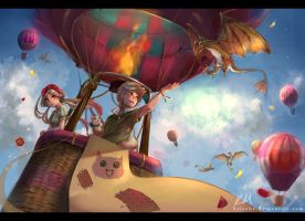 Sky Children by KrisaHe