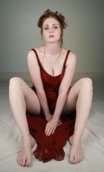 Woman Red Dress IV by IQuitCountingStock