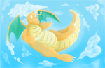 Dragonite PokePainting by AllKindsOfYES