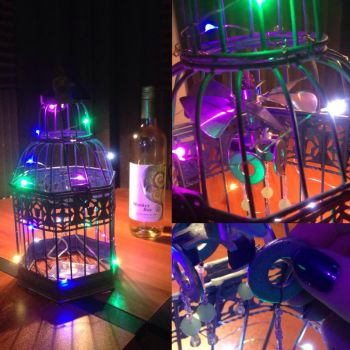 Rainbow LED Birdcage Lantern by MrsBoogerSnooger