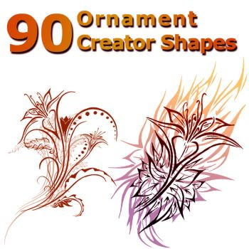 90 Ornament Creator Shapes by XResch