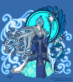Lunar Snow Maiden by Snowy-Dragoness