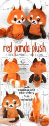 Red Panda Plush Sewing Pattern by SewDesuNe